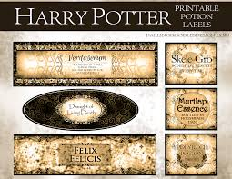 Free Printable Halloween Potion Labels by Printable Harry Potter Potion Labels Darling Doodles