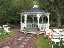 Patio Gazebo Ideas by Outdoor Pergolas And Gazebos Decor Romantic Wedding Outdoor