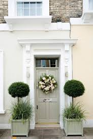 Awesome Front Doors Accessories Cute Front Door Planters With Flowers Decor And White