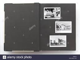 black page photo album open vintage photo album with blank page and black and white