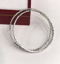 white gold hoops 18k white gold hoops without stones ebay