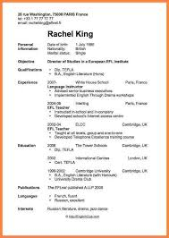 Resume Of Job Application by 13 Curriculum Vitae Format For Job Application Teacher Bussines