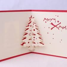 3d pop up greeting card merry christmas tree birthday postcards