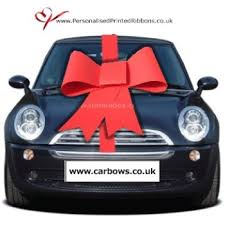car ribbon big card bow uk free uk delivery by personalised printed ribbons