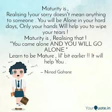 quotes learning to be alone ninad gahane quotes yourquote