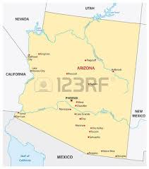 us map arizona state simple arizona state map royalty free cliparts vectors and stock