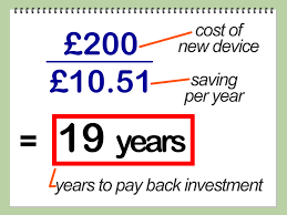 how to calculate the energy payback time when investing in new