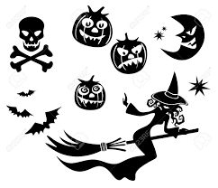 halloween clipart black background halloween symbols set isolated on a white background royalty free