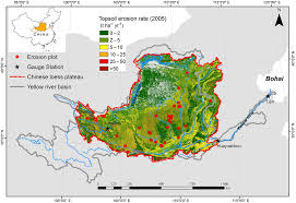 location chaises figure 1 topsoil erosion map of the loess plateau