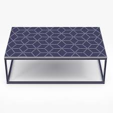restoration hardware metall parquet coffee table 3d model max obj