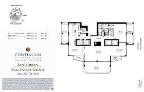 continuum floor plans north tower continuum south beach condo