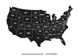 usa map usa map stock vector 454617523