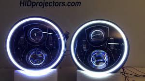jeep wrangler blue headlights 7 jeep wrangler halo jw speaker headlights from hidprojectors com