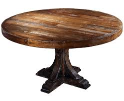 round reclaimed wood dining table ideal as dining room table and