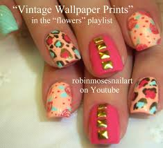 nail art tutorial mix and match nail art easy mint and coral