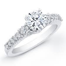 beveled engagement ring 14k white gold diamond beveled engagement ring wit