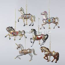 carousel ornaments set of 6 free shipping