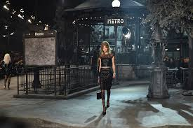 chanel pays homage to roman cinema and parisian style in paris