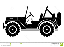 jeep cartoon offroad unique silhouette royalty free jeep drawing