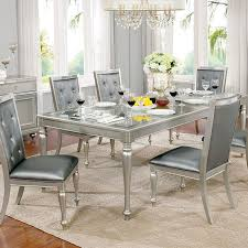 silver dining room sarina silver dining table shop for affordable home furniture