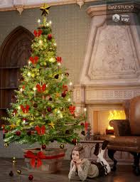 victorian christmas tree 3d models and 3d software by daz 3d