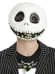 skellington mask the nightmare before christmas skellington mask hot topic