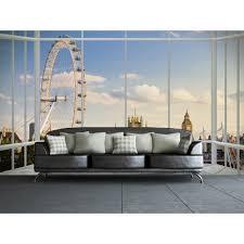 London Wall Murals 1 Wall London Window Skyline Photo Poster 3 15 X 2 32m W4p London 017