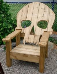 pallet furniture plans badass adirondack skull chair by hushgirl