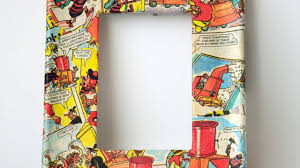 Interior Decoration With Waste Material by How To Create Cool Comic Book Decoupage Frames Diy Home Tutorial