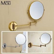 bathroom mirror copper frame round mirror wall mount 8