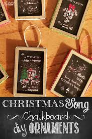 song chalkboard ornaments easy diy craft with