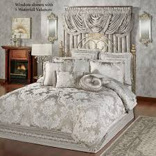 Eastern Accents Bedding Bellamy Silver Gray Comforter Bedding