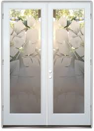 etched glass doors banana leaves 2d pair etched glass doors tropical decor