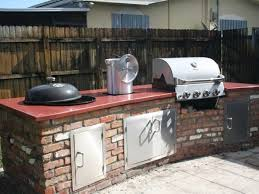 built in weber grill concrete countertop http www