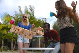 amazon com jenga giant genuine hardwood game stacks to 4 feet