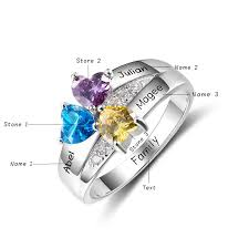 birthstone rings personalized 925 sterling silver birthstone ring blazemall