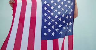 Dancing Flags American Patriot Posing And Dancing With Flag Stock Video Footage