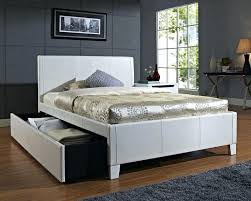 white full bedswhite twin trundle bed upholstered headboard frame
