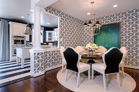 black and white checkered area rug with contemporary dining room Checkered Area Rug