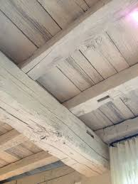 White Ceiling Beams Decorative by If There Is Ever A Cottage This Would Be A Great Look White Wash