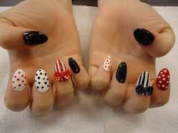 gel nails with 3d bow and hand painted nail art yelp