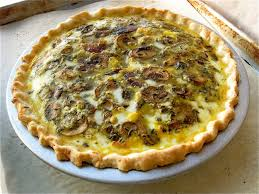 Quiche Blind Bake Or Not Mushroom Cheddar Quiche Not All Pies Are Sweet Flourish King