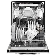 Dishwasher With Heating Element Kenmore 14573 Dishwasher With Third Rack Power Wave Spray Arm