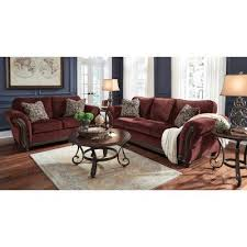chesterbrook burgundy living room set signature design furniture