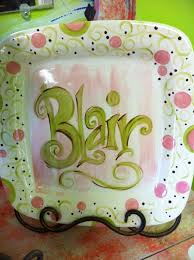 painted platters personalized 63 best plates and platters images on painted pottery