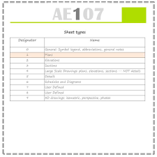 Architectural Drawing Sheet Numbering Standard by Drawing Sheet Number F O L I N O T E S