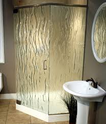 3 8 glass shower door frosted and textured glass options for shower doors