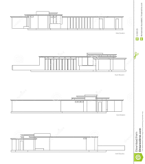 House Elevations Modern House Elevations Set Stock Photo Image 15189120