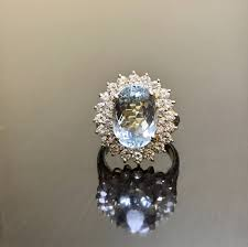 aquamarine engagement rings 14k yellow gold aquamarine halo diamond engagement ring art