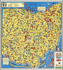 Akron Ohio Map Map And Cover See The Wonderful World Of Ohio See Ohio By Auto